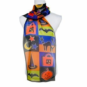 """Rare NWT Elaine Gold for Collection XIIX Halloween Scarf 50"""" x 11"""""""